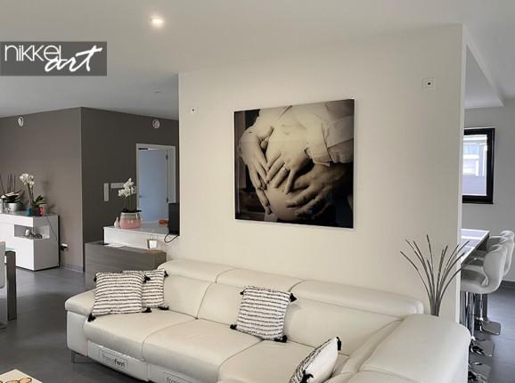 Your pregnancy photo on acrylic
