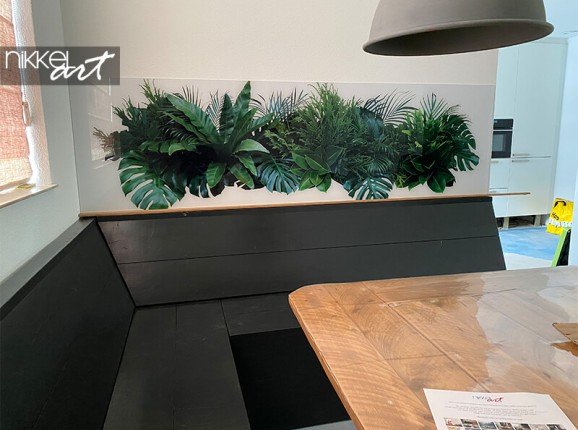 Photo on acrylic of tropical leaves