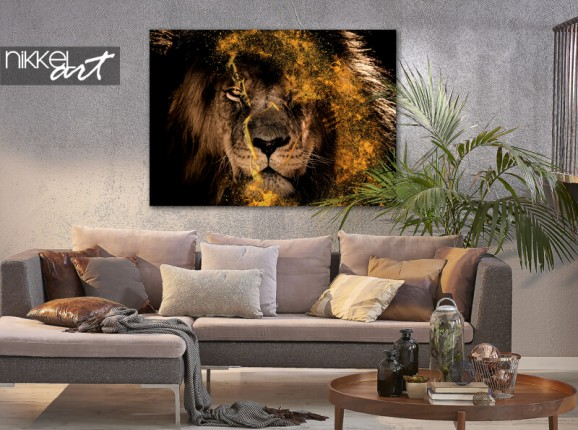 Photo on aluminium Fenna van der Vliet - Golden Lion