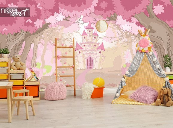 Wall mural magic castle for the kids room