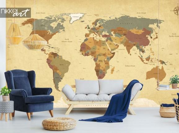 Wall murals Vintage World Map