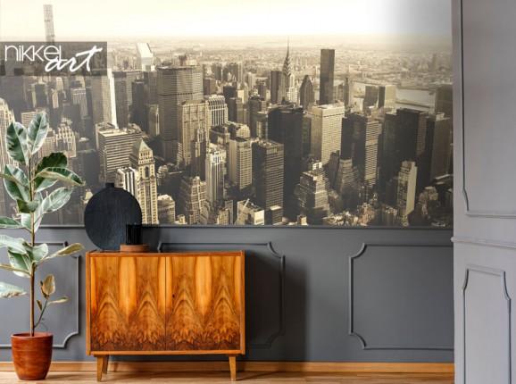 New York skyline on photo wallpaper