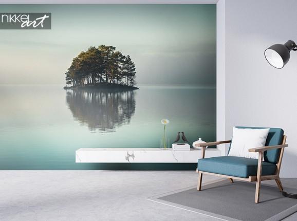 Photo wallpaper shoreless lake