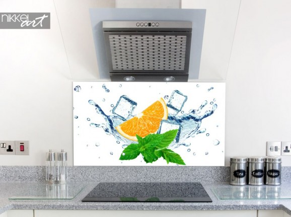 Splashbacks for kitchens with picture