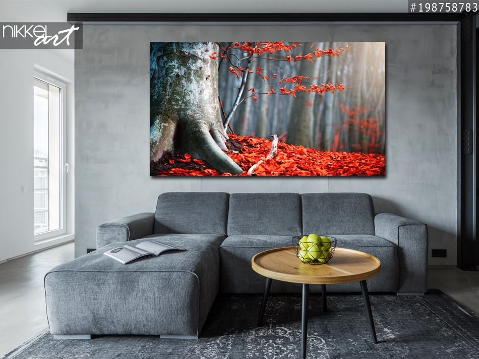 Acrylic Prints Magic Autumn forest