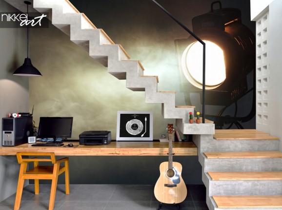Hobby Room with Wall Mural Spotlight