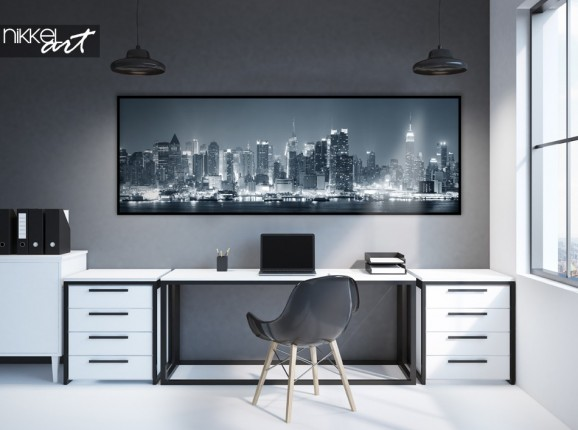 Office with Poster Panorama Photo