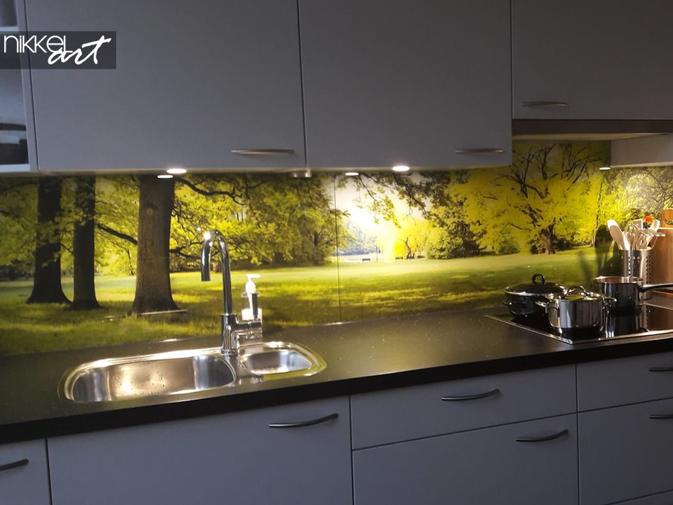 Customer Photo Splashback Forest
