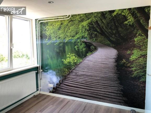 Customer Photo Wall Mural with Forest Path