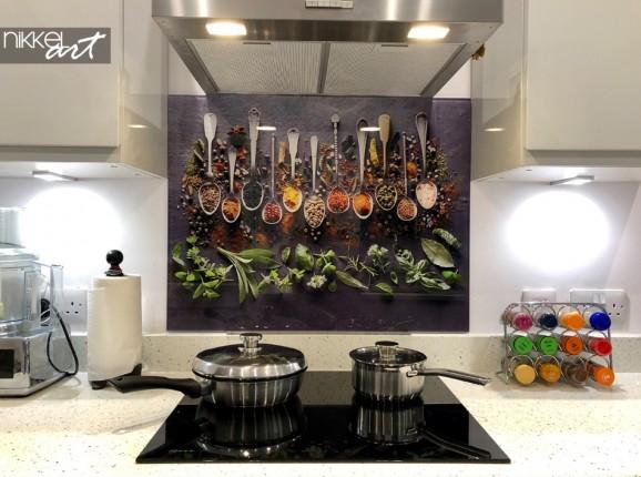 Customer Photo Printed Kitchen Splashbacks Spices