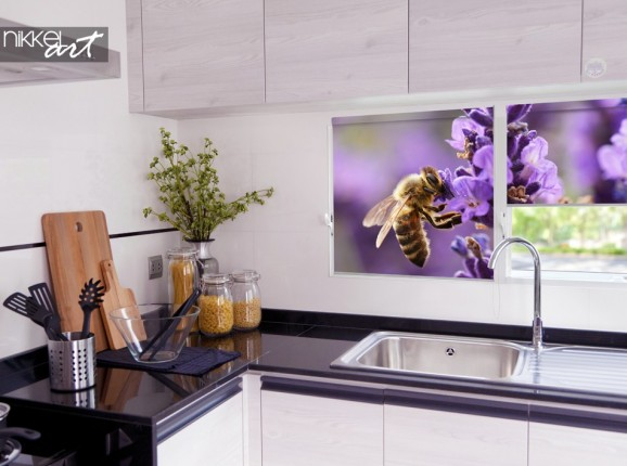 Colorful Photo Blind for the Kitchen