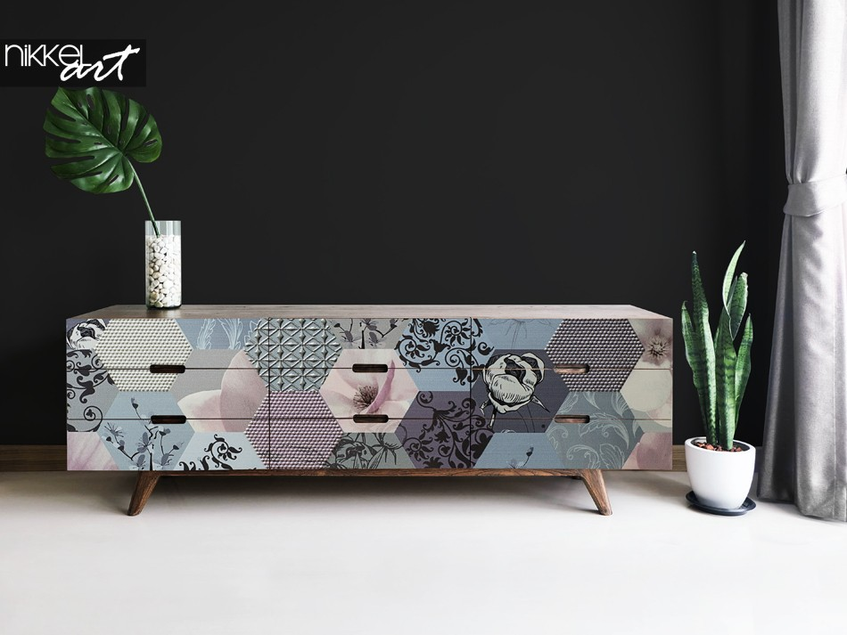 Furniture Sticker with Graphic Print