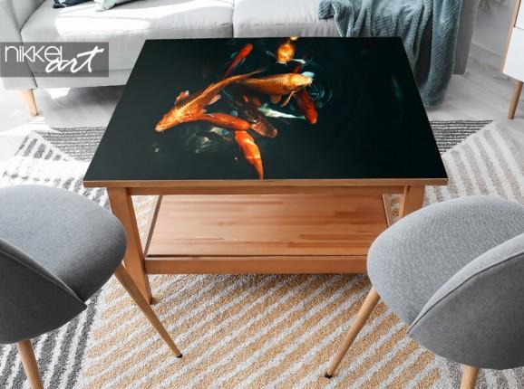 Furniture sticker with Koi fish