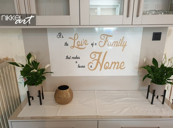 Personal quote on wall sticker