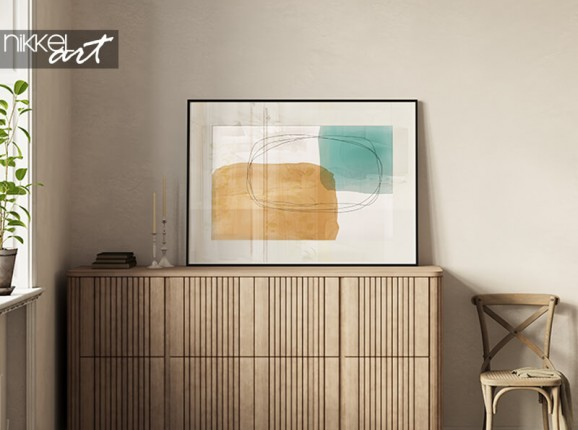 Framed abstract poster