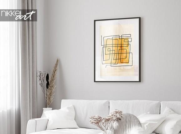 Framed minimalist poster