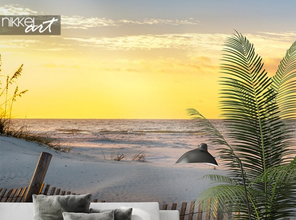 Photo wallpaper with beach