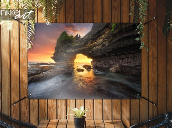 Garden poster sunset in Bali