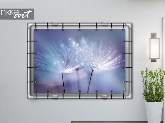 Garden poster with dandelions