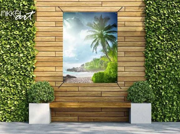 Garden poster Seychelles