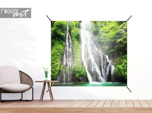 Garden poster waterfall