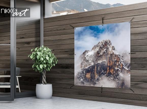 Garden poster misty mountain peaks