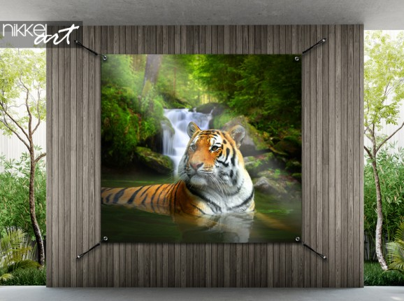 Garden poster with tiger