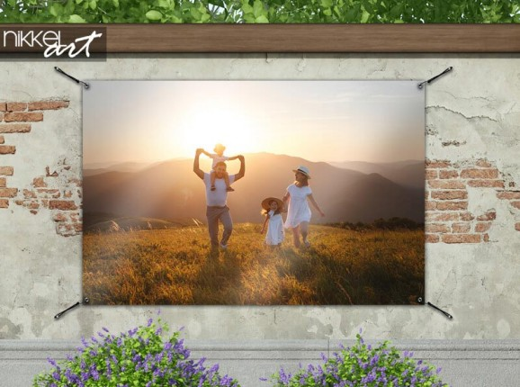 Garden poster with your own photo