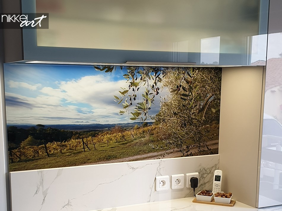 Printed kitchen splashbacks Olive tree