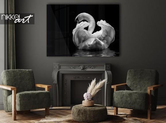 Swan on acrylic