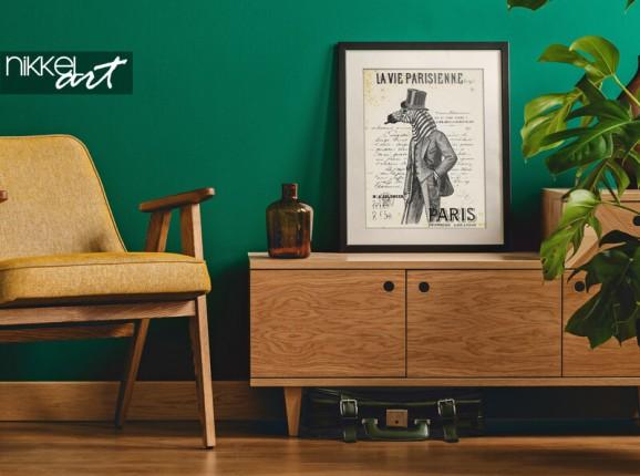 Frames poster with a zebra man