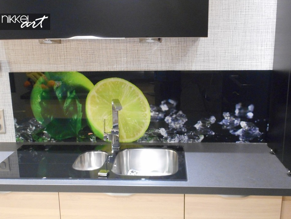Printed kitchen splashbacks In the ice