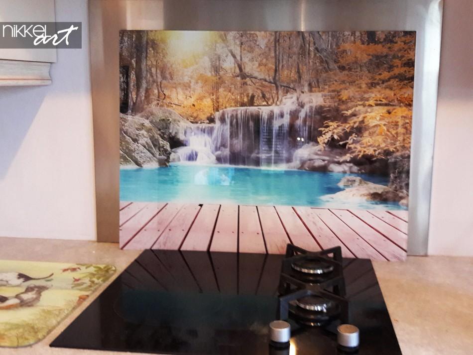 Printed kitchen splashbacks Waterfalls
