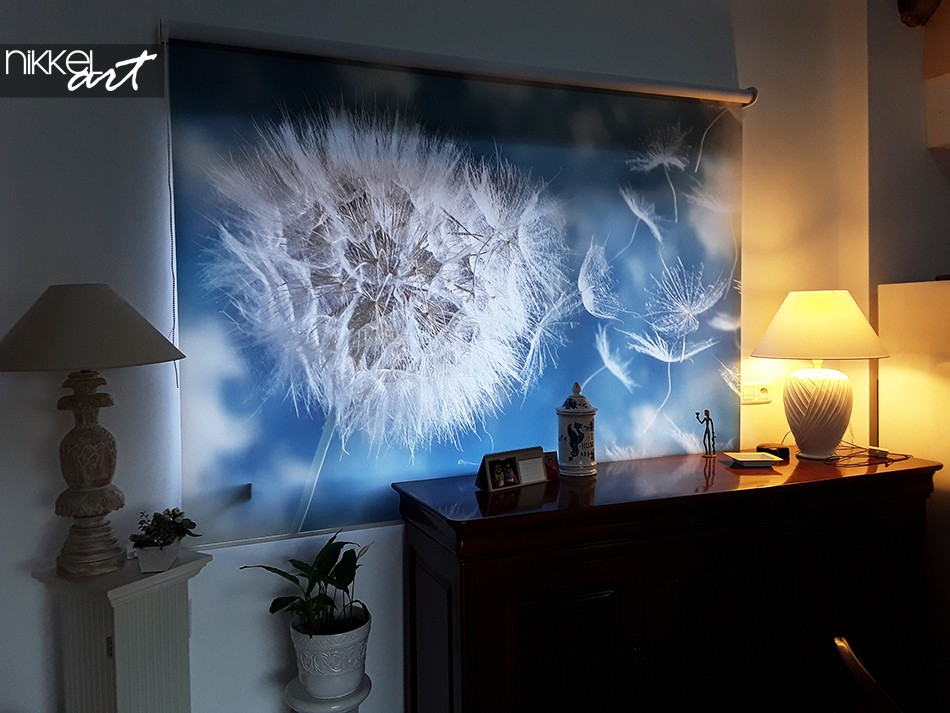 Printed roller blinds Dandelion
