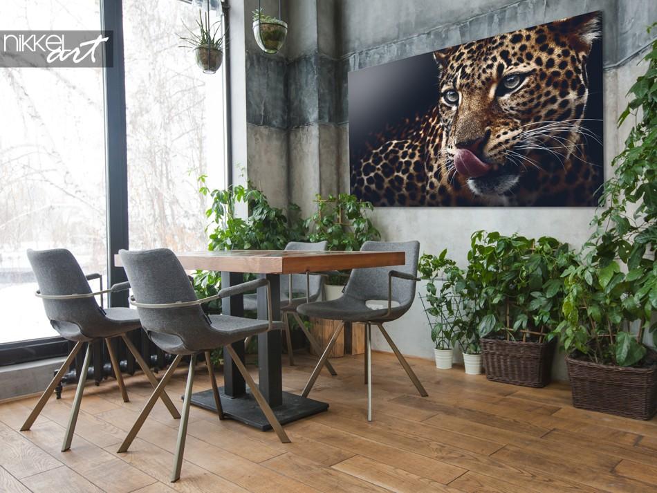 Greenhouse with Photo Leopard on Plexiglas