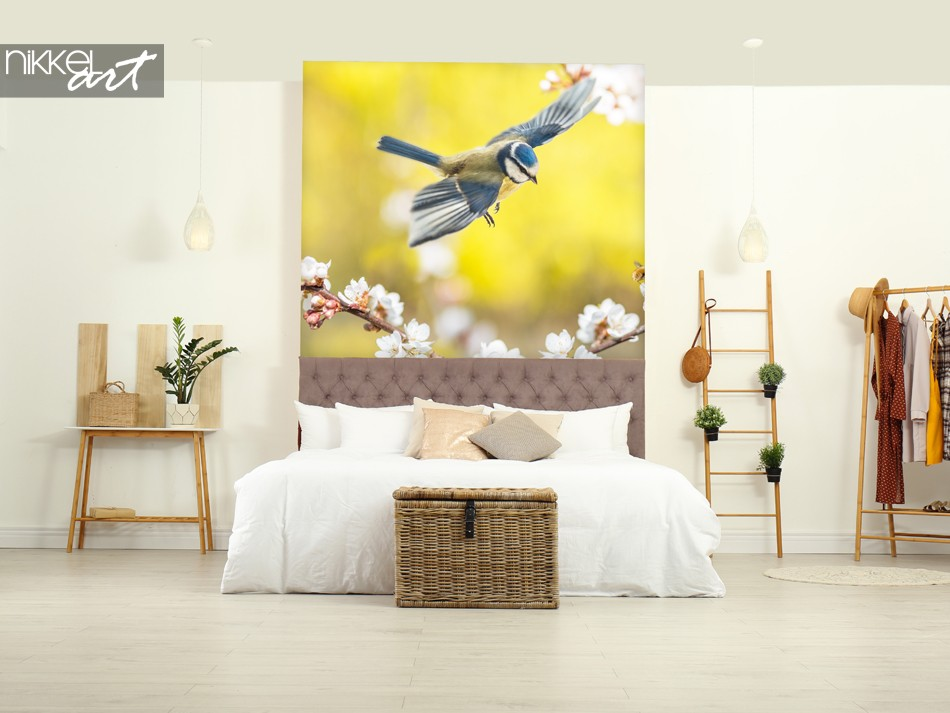Bedroom with Wall Sticker Bird