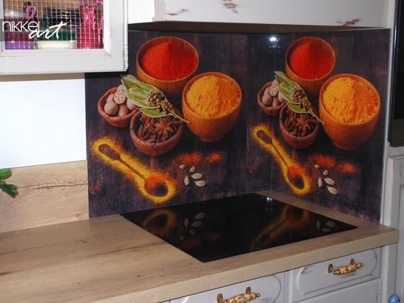 Printed kitchen splashbacks Spices