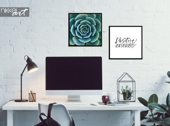 Home Office with Poster Combination