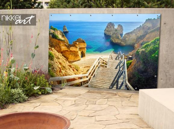 Garden poster Algarve beach