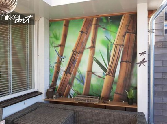 Photo on garden poster of bamboo