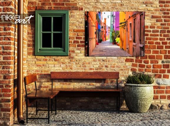 Garden poster Italian alley