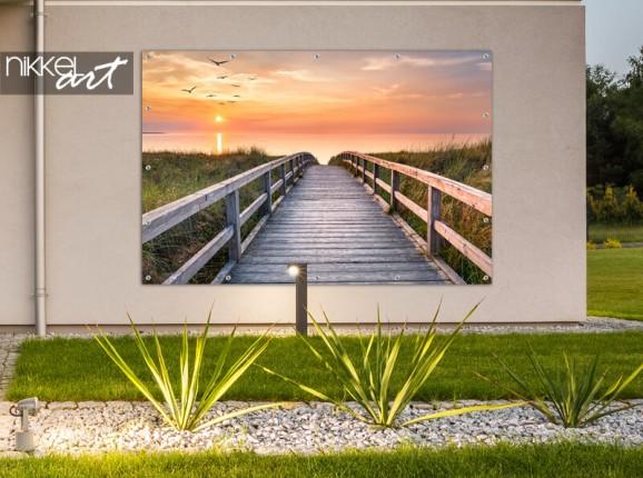 Garden poster sunset