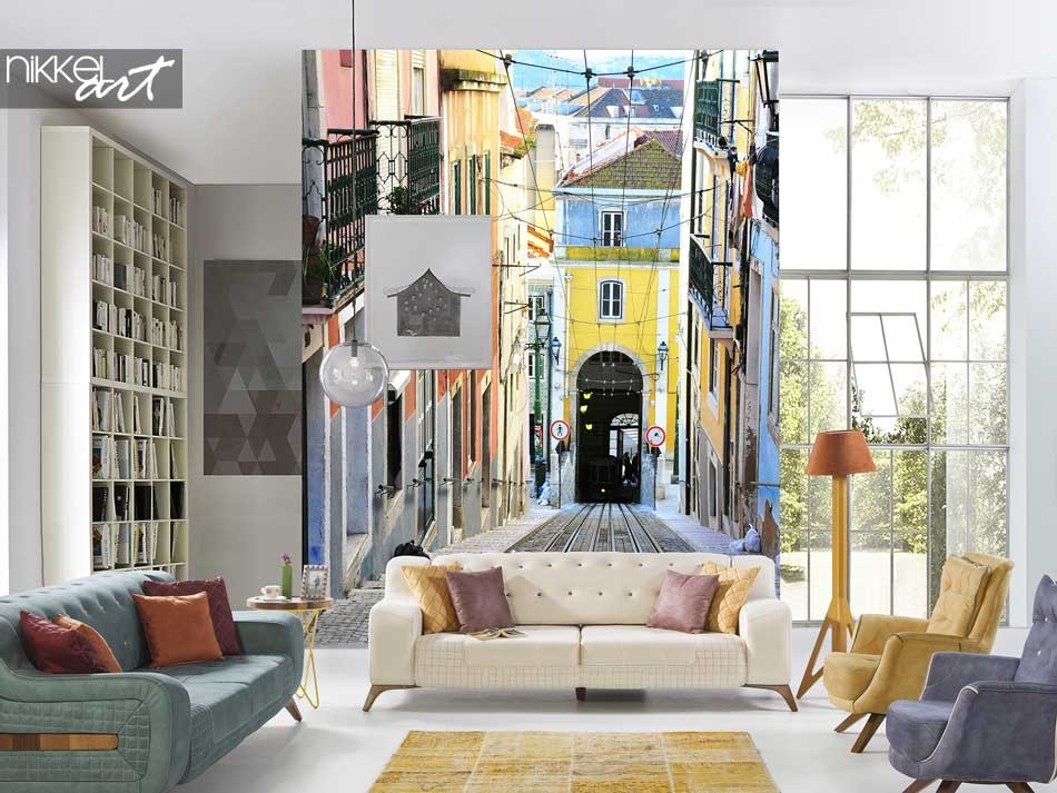 Wall Murals Narrow alley