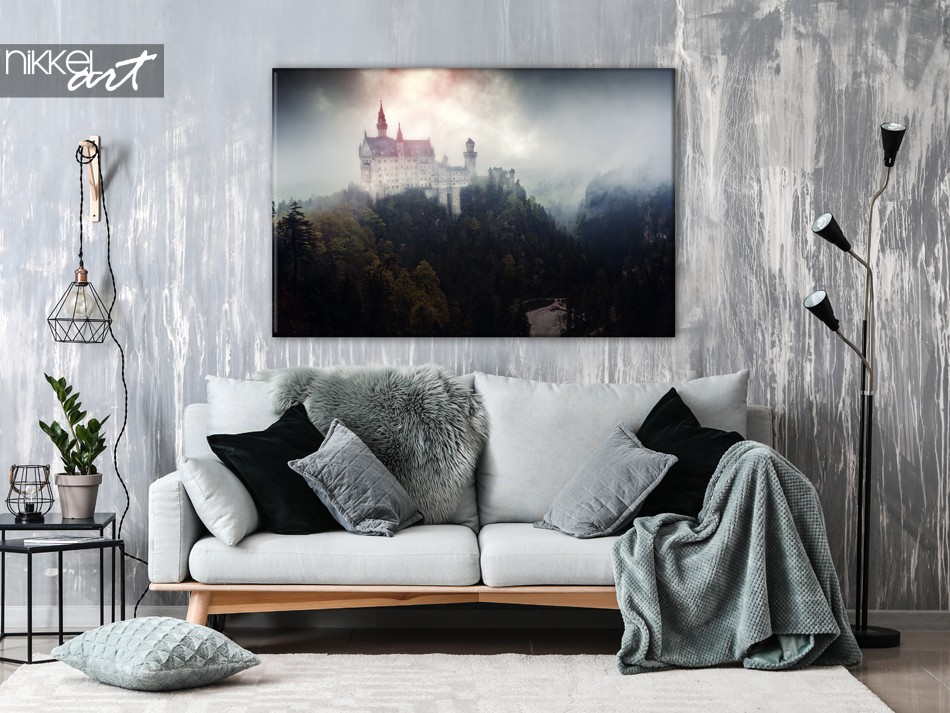 Neuschwanstein Castle on Canvas