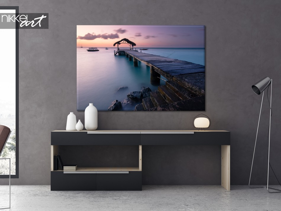 Living Room with Photo on Canvas Pigeon Point