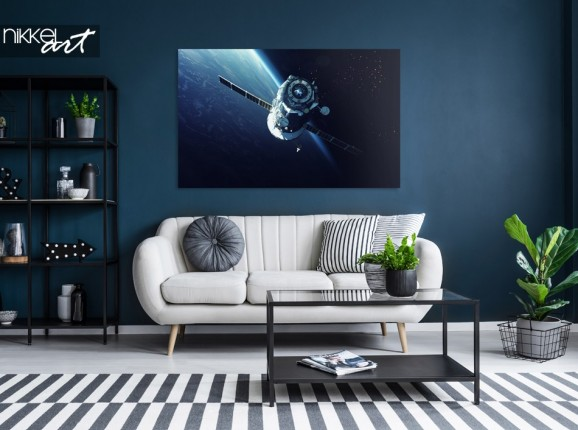 Living Room with Photo Spacecraft on Aluminum