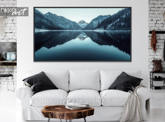 Living Room with Poster Mountains