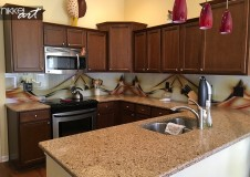 Customer Photo Glass Kitchen Back Wall