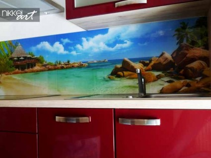 Printed kitchen splashbacks Beach
