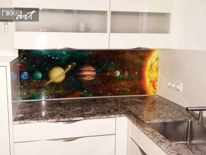 Printed kitchen splashbacks Nasa